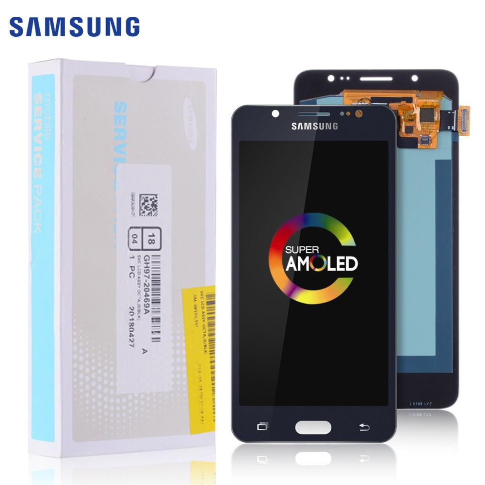 Super AMOLED ORIGINAL 5.2'' LCD For SAMSUNG Galaxy J5 2016 Display Touch Screen For Samsung J510 J510F J510FN J510M