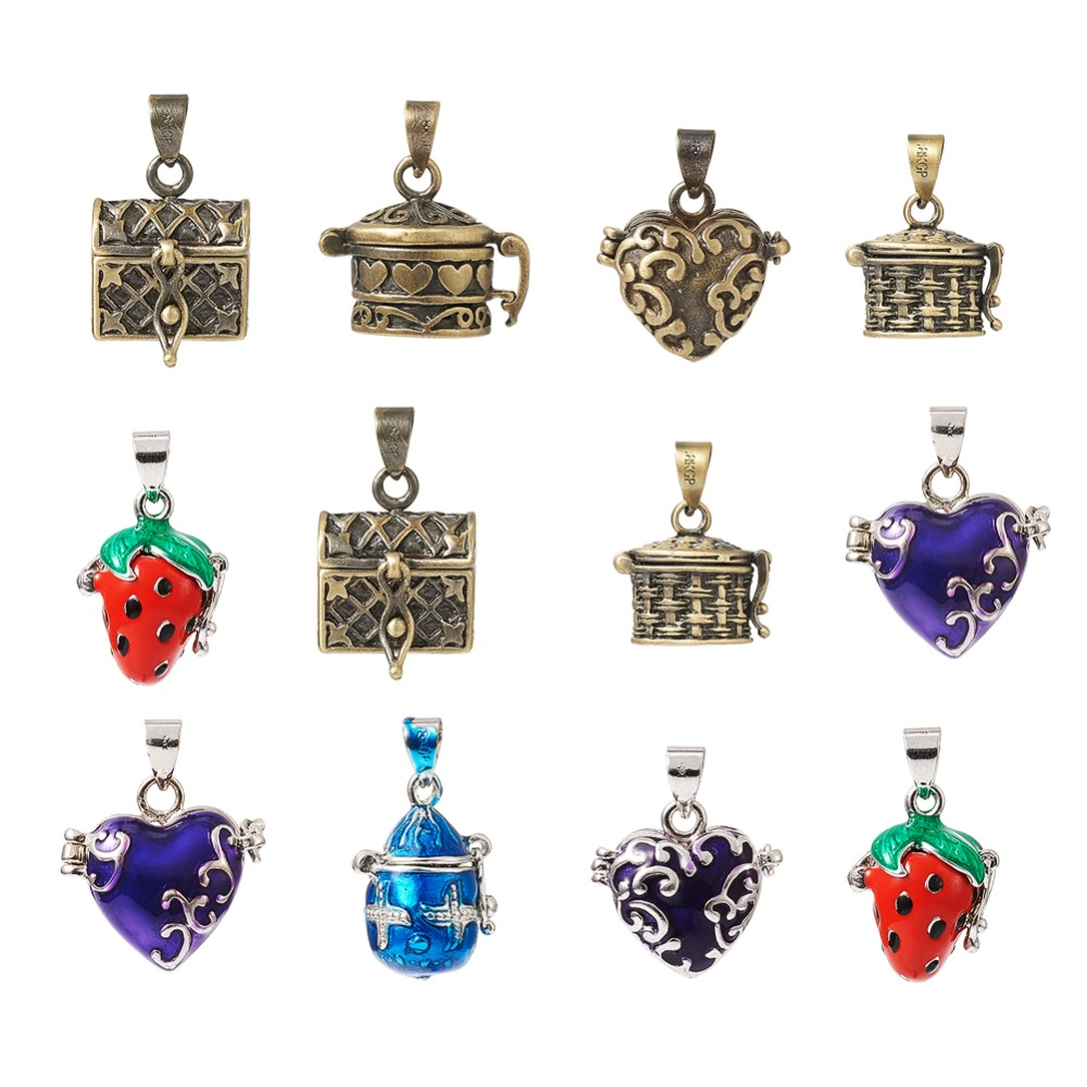10 pcs Assorted Vintage Key Shaped Charms Pendants Necklace Jewelry Making