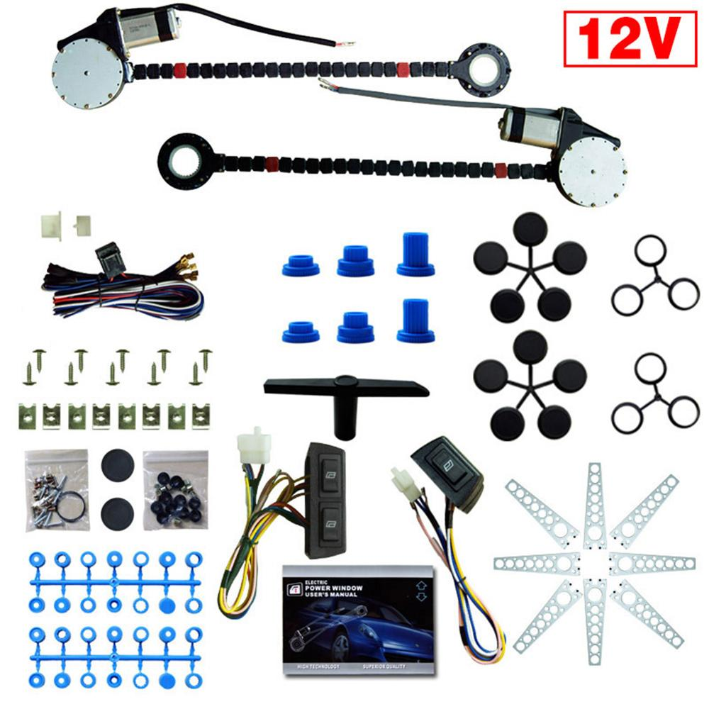 Conversion-Kit Window-Lifter Universal Electric for 2-Door Car Truck SUV 12V
