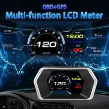 Проекционный дисплей hud для автомобиля obd2 gps dual system