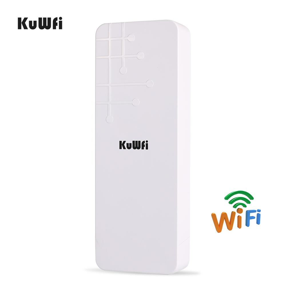 KuWFi Outdoor CPE Router Wifi Extender Qualcomm 9531 Speed Up To 300Mbps Wireless CPE Stabilized Enclosure With IP65 Waterproof-in Wireless Routers from Computer & Office