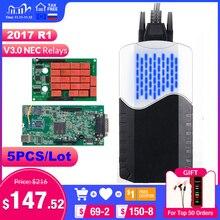 5 pz/lotto CDP TCS V3.0 Bluetooth 2015.R3 / 2016.00 keygen software obd2 scanner auto camion OBDII strumento di diagnostica auto