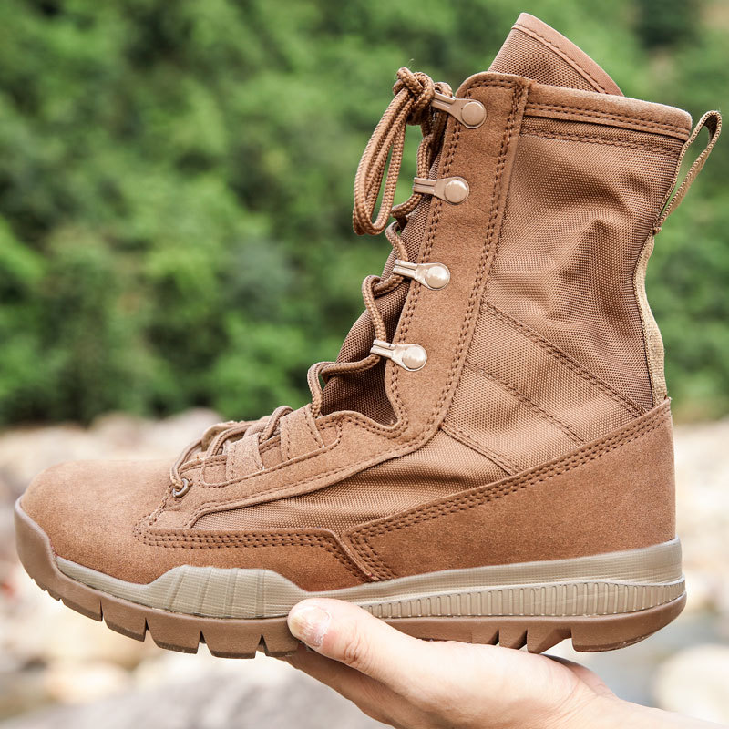 Ultra-Light Combat Boots Men's Boot SFB Tactical Boots Anti-slip Wear-Resistant Outdoor Comfortable Leather Boot