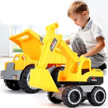 Baby Classic Simulation Engineering Car Toy Excavator Model Tractor Dump Truck Beach Gift for Boy