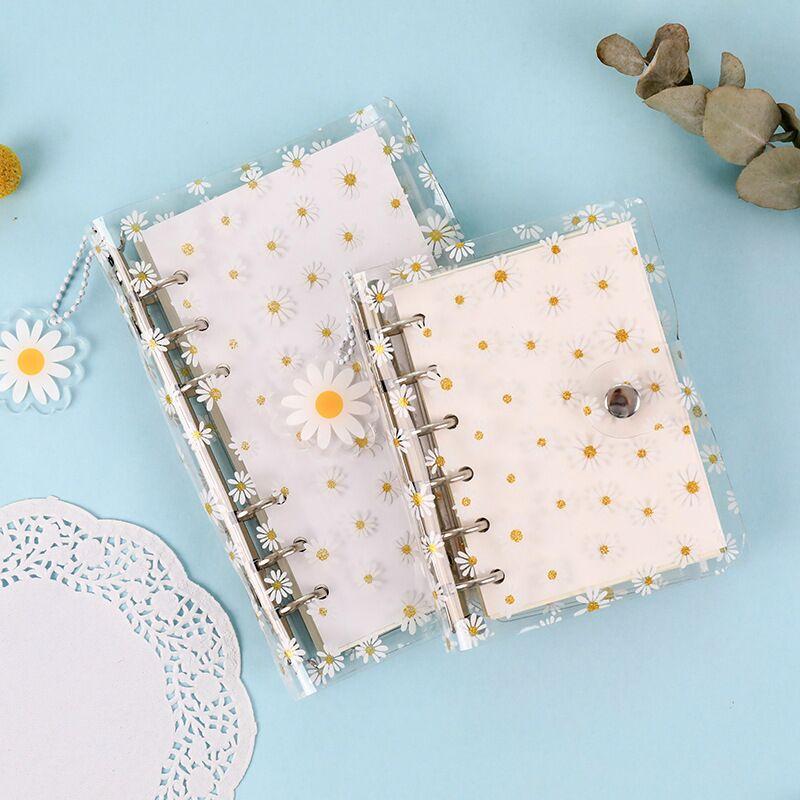 Чехол для ноутбука MINKYS Kawaii Daisy Flower A7/A6 Binder Sprial с сумкой для хранения дневник школа планирования канцелярские принадлежности