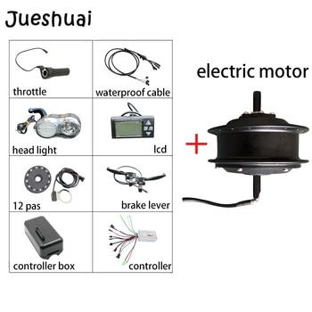Kit de bicicleta electrónica negro motor de cubo sin escobillas para bicicleta...