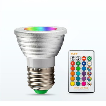 Ledrgb5w Remote Control Lamp Cup Colorful Spotlight Rgbwgu10 Ac85-265v With Memory Led Lamba Light Bulb Rgb E27 Ledy Smart image