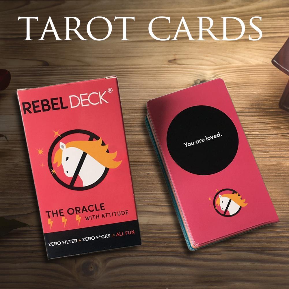 60 Pcs/set Deck Tarot Cards Funny Board Game Tarot Deck Card Games English For Families Children Kids Drop Ship