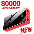 80000 мАч Power Bank большой емкости LCD Power Bank Внешняя батарея USB портативный мобильный телефон зарядное устройство для Iphone, Samsung, Xiaomi