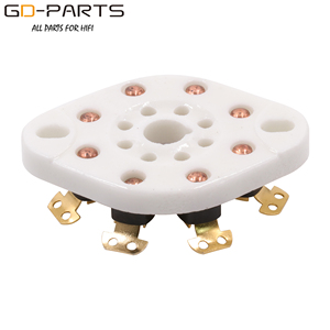 Image 3 - GD PARTS 10PCS Chassis Mount 8pin K8A Octal Ceramic tube sockets for KT88 EL34 6SN7 5AR4 GZ34 5881 6V6 5U4G 6550 6J7 6SJ7 6CA7