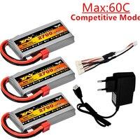 Batería Lipo 2s 7,4 V 2700mAh 45C para Wltoys 12428 12423 RC Car feiyue 03 Q39, piezas de mejora de batería