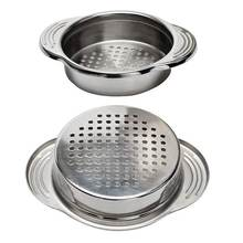 2-Pack Stainless Steel Food Can Drainer Strainer, Sieve Tuna Can Oil Press Tuna Can Oil Squeezer Oil Drainer Can Opener, Can S