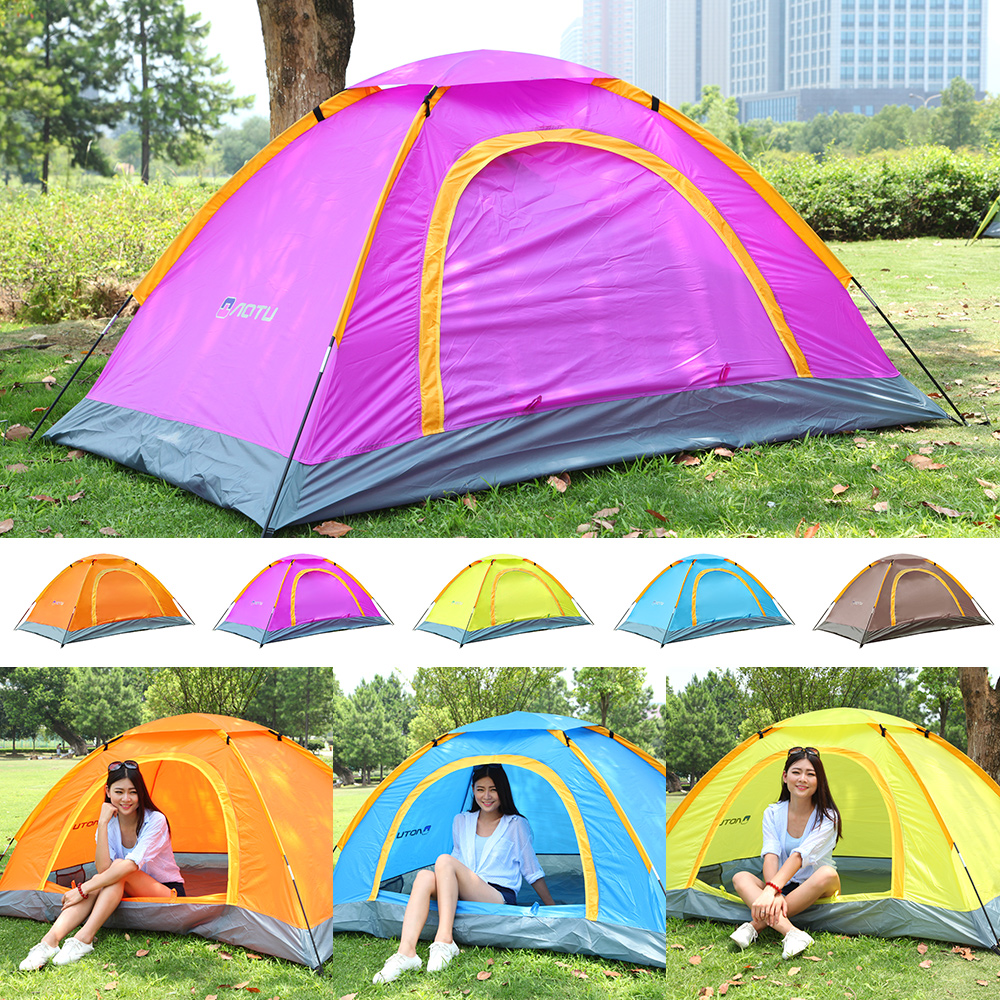 2 Person Windbreak Camping Tent Dual Layer Waterproof Anti UV Tourist Tents Portable Outdoor Fishing Hiking Tent Garden Tent D20 in Sun Shelter from Sports Entertainment