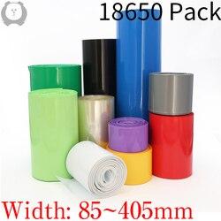 Ширина 85 мм ~ 405 мм 18650 для губ Батарея ПВХ термоусадочная трубка пакет диаметром 55 - 258 мм изолированные пленка Обёрточная бумага литий чехол ...