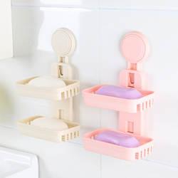 Сильные seamless наклейки мыльница сукториальное двойное слоёное мыло Блюдо Ванная комната стойка товар оптом