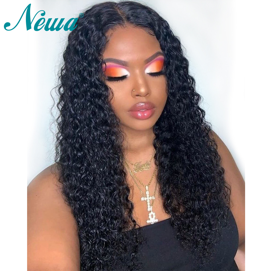Newa Hair Lace Front Human Hair Wigs With Baby Hair Pre Plucked Curly Lace Front Wig
