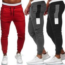 2019 nova moda masculina calças de pista calças compridas treino de fitness joggers sweatpants primavera outono venda quente calças