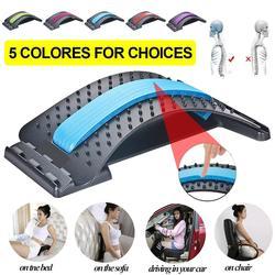 Magic Stretcher Fitness Lumbar Back Stretch Equipment Massager Support Relaxation Spine Pain Relief Massageador