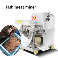 280kg/h Commercial fish flesh separator XZC-220 Stainless steel fish meat extractor Automatic fish meat bone separator 220V/380V