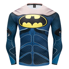 Winter Soldiers Captain America Spiderman Batman T-Shirt 3D Print compression Men Avengers Fitness Sweatshirt Tights Long sleeve