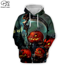 Terror Halloween Pumpkin skull print Men 3d Hoodies costume women Sweatshirt tshirt pullover Christmas cosplay zipper tracksuit