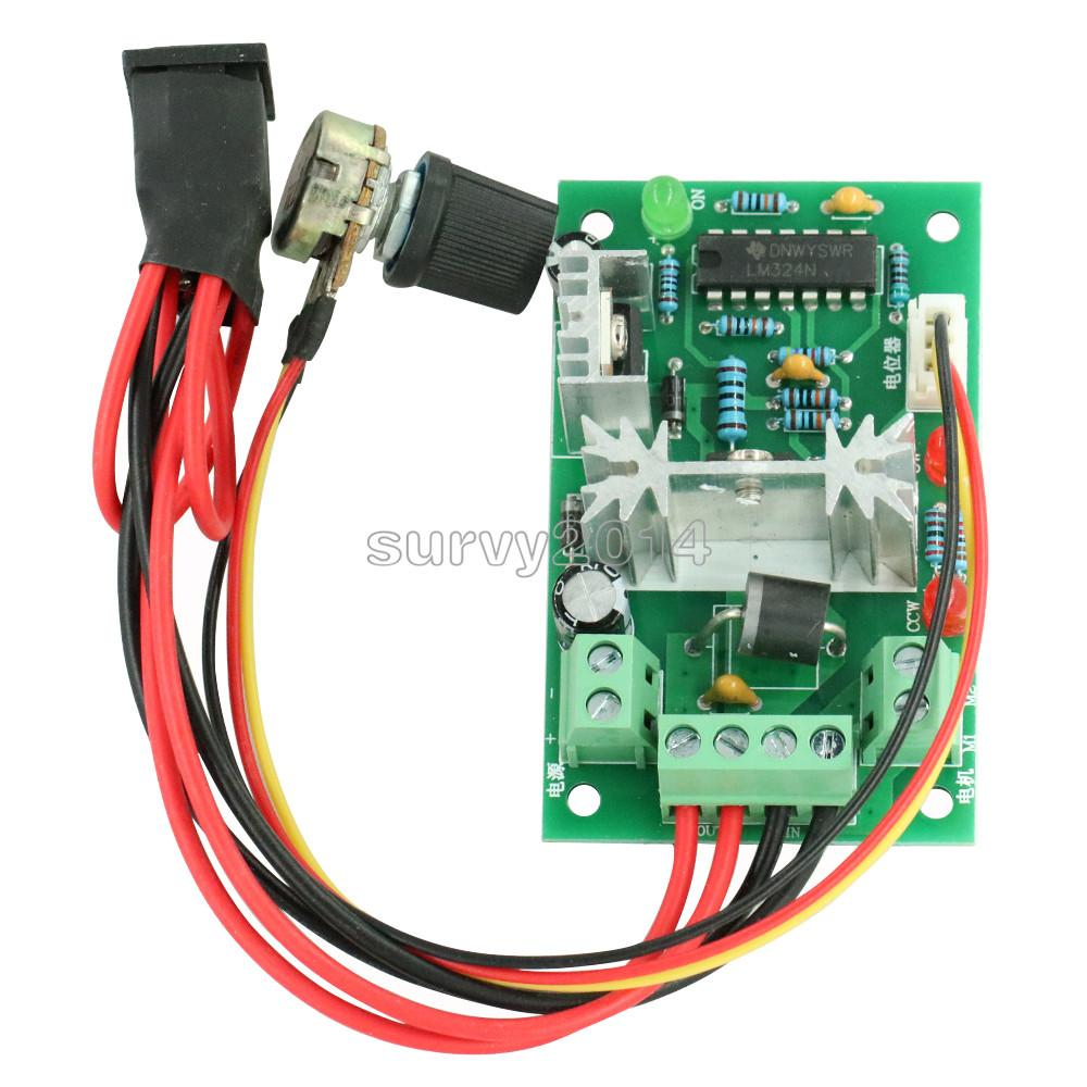 DC 6-30V 6A Motor Speed Controller Reversible PWM Control Forward/Reverse Switch Board 6V-30V Max 10A Module 12V 24V
