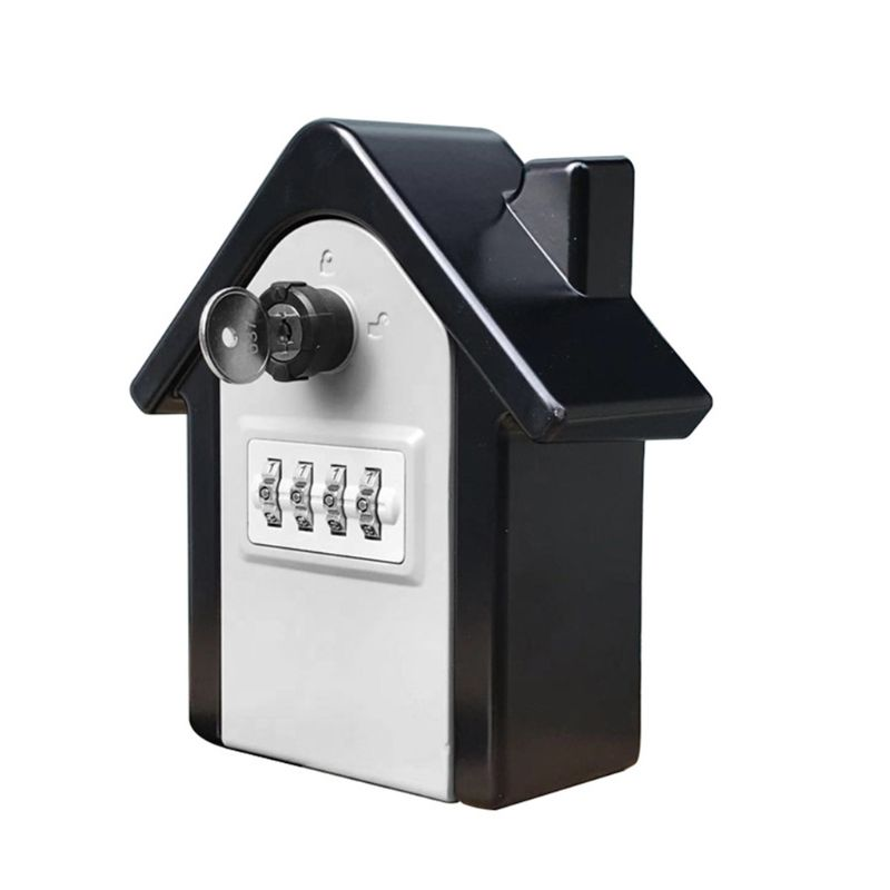 4 Digit Outdoor High Security Wall Mounted Key Safe Box Code Secure Lock Storage B36A
