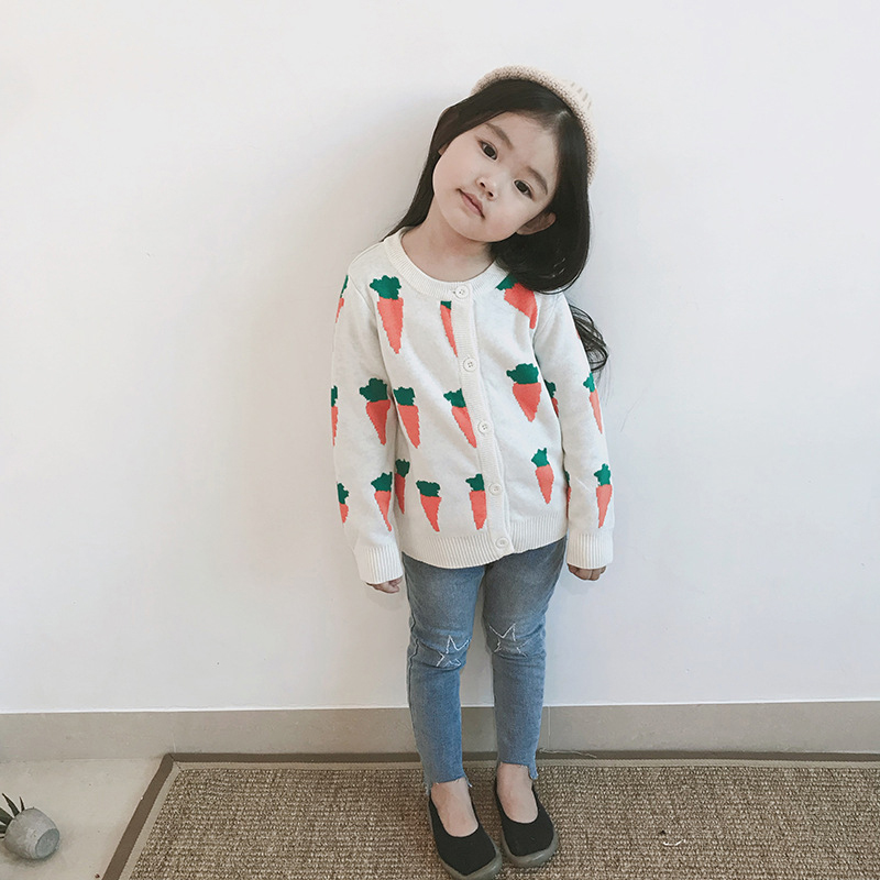 Autumn Kids Cardigans Sweaters Baby Girls Boys Knitted Outerwear Jacket Toddler Cotton Coat Printing Spring Children Sweater 4