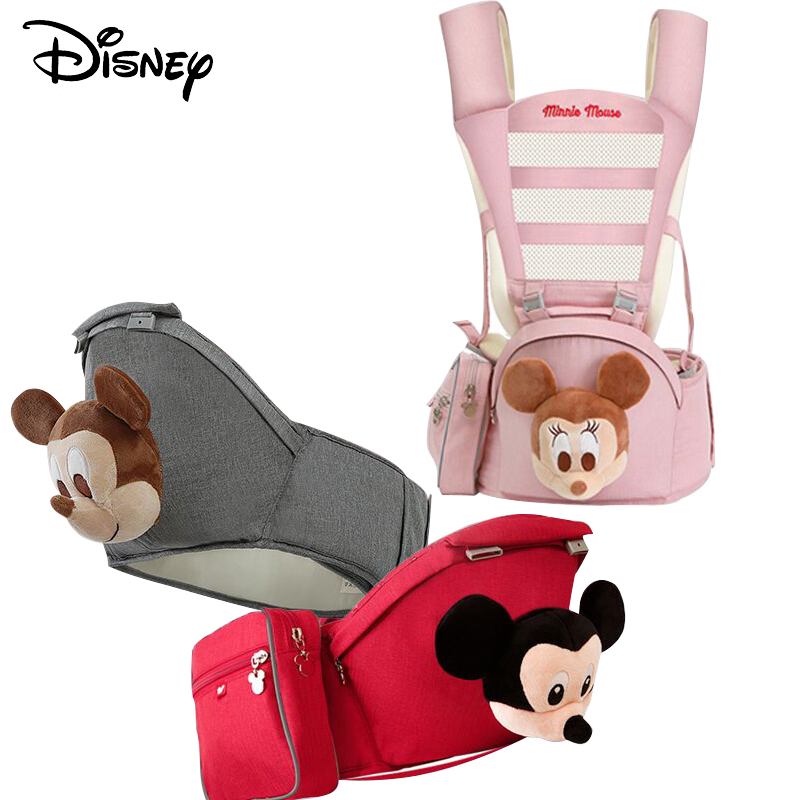 Disney Ergonomic Baby Carrier Infant Kid Baby Hipseat Sling Front Facing Kangaroo Baby Wrap Carrier For Baby Travel 0-36 Months