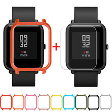 1Pc Case Cover Shell For Xiaomi Huami Amazfit Bip Youth Watch with Screen Protector Smart watch Protector accessories 2019(China)