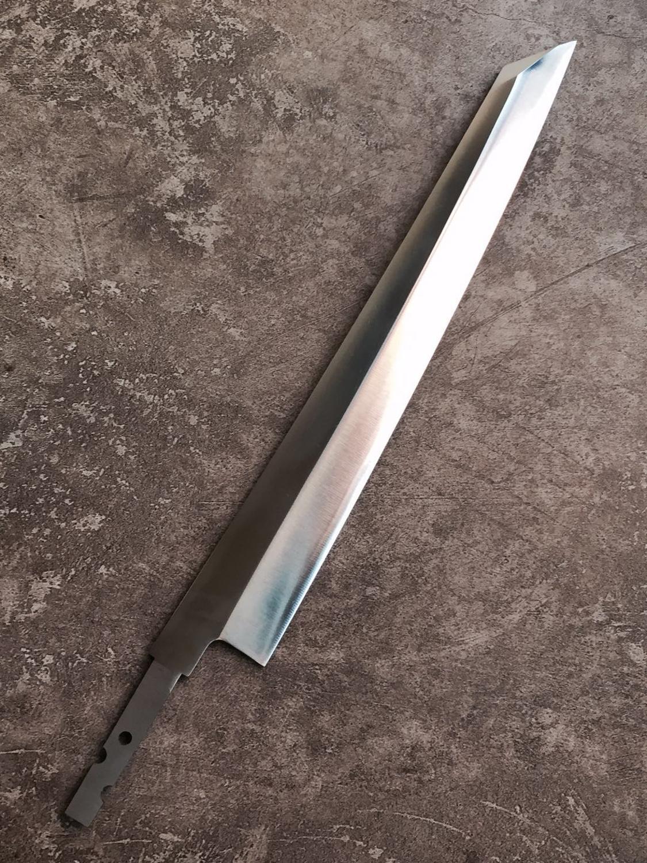 home improvement : Sashimi knife diy blank blade Sushi Yanagiba Knife - Japanese Kitchen Knife 12inch with AUS-8 Stainless Super Steel Sharp Blade
