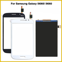 new i9060 LCD Touch Screen For Samsung Galaxy Grand Neo Plus i9060i i9060 Display Touch Panel Digitizer Sensor Glass Lens(China)