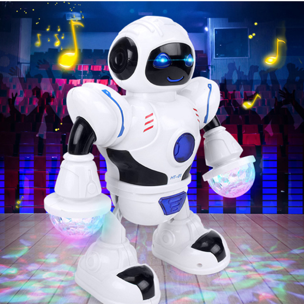 Smart Mini Robot Fun Robot Dancing Robot Toy Led Light Music Hyun Dance Robot Toys Gift for Kids