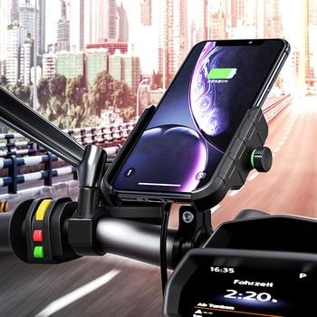 15 Вт держатель для телефона мотоцикла Быстрая зарядка беспроводное зарядное устройство кронштейн держатель подставка для iphone X XS Max XR 8 samsung ...