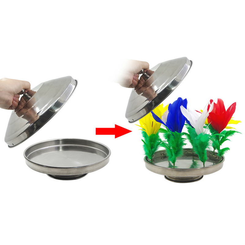1 Set (no Pan) Fire To Flower Pan Stage Magic Trick,Illusions,Mentalism,Super Effect,Magician Dove Pan Props Pan Not Included image