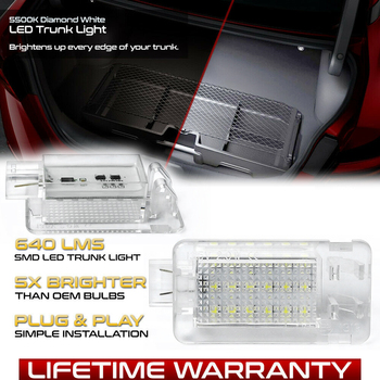 2Pcs LED Luggage Compartment Light Trunk Lamp For Volvo C70 S60 V60 V70 C30 XC70 S80 XC90 V40 V50 XC60 C70 S40 new set 4 oem 30786968 pdc parking sensor reverse assist for volvo c30 c70 s60 s80 v70 xc70 xc90 30786968 30786320 30765703