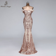 Party-Dress Evening-Gowns Robe-De-Soiree Mermaid Elegant Long Boat-Neck