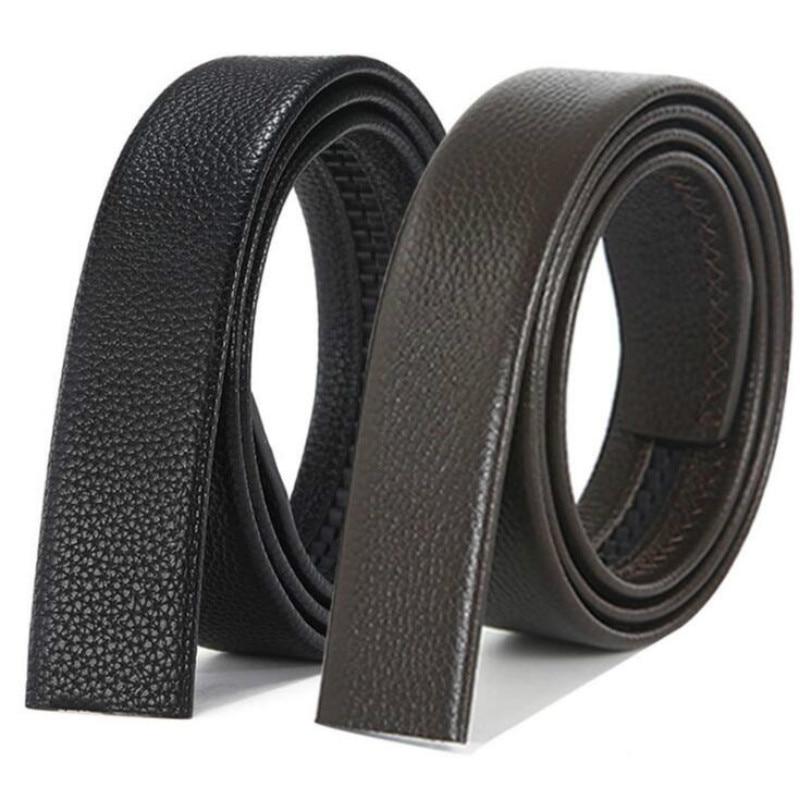 Men's Automatic Buckle Belts No Buckle Belt Brand Belt Men PU High Quality Male Genuine Strap Jeans Belt Free Shipping 3.5cm