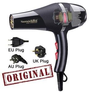 Image 1 - אמיתי 2100W מקצועי מייבש שיער גבוה כוח סטיילינג כלים לפוצץ מייבש חם וקר האיחוד האירופי תקע מייבש שיער 220 240V מכונה
