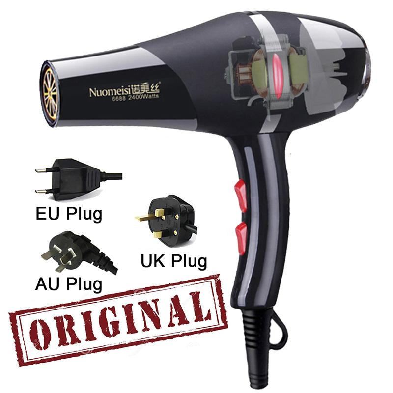2400W Professional Hair Dryer High Power Styling Tools Blow Dryer Hot and Cold EU Plug Hairdryer 220 240V MachineHair Dryers   -
