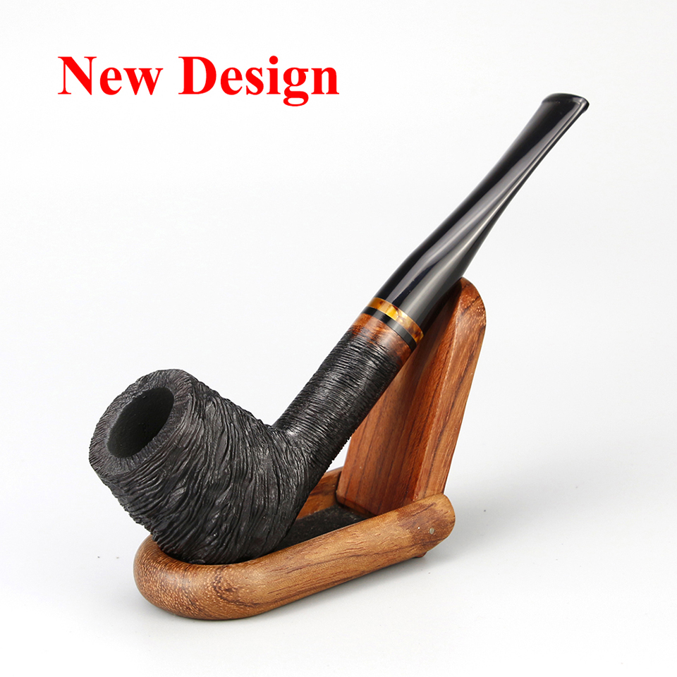 Classic Briar Wood Pipe 9mm Filter Smoking Tobacco Pipe Random Engraved Briar Pipe Smoking Pipe Free Tools Set Smoking Accessory