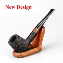 Tuyau en bois Briar classique, 9mm, filtre pour tabac, gravure aléatoire, ensemble doutils gratuits, accessoire de tabac