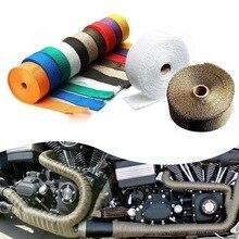 Автомобиль модифицированный изоляционный ремешок для мотоцикла выхлопная труба теплоизоляция пены Муса Basjoo ткань изоляционная лента Высокая температура Res