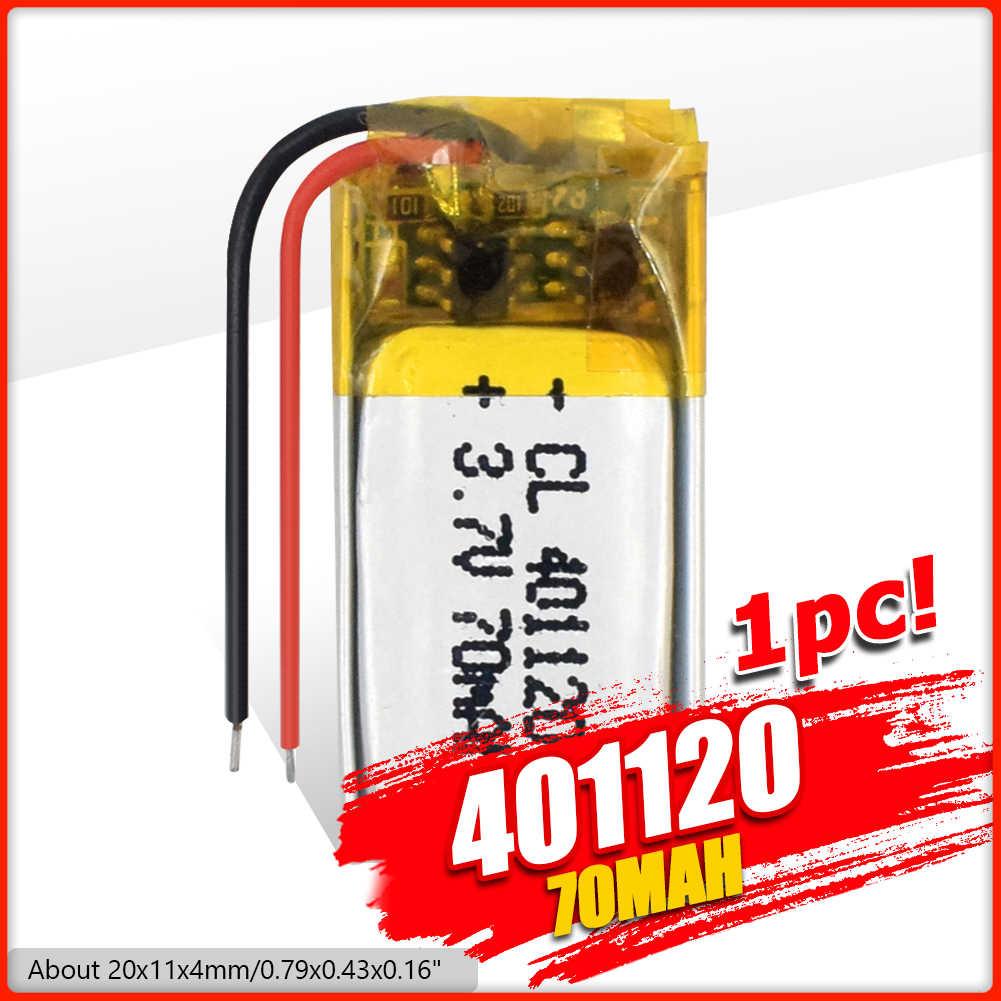 最高の充電式バッテリー3.7v MP3 MP4 gps 401120 401120ポリマーリチウム電池bluetoothヘッドセットスピーカー70mah