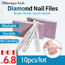 BlinkingNails Professional Nail File 180/240 10pcs 150/150 White Files 100/180 for Pedicure 80/100 Sanding