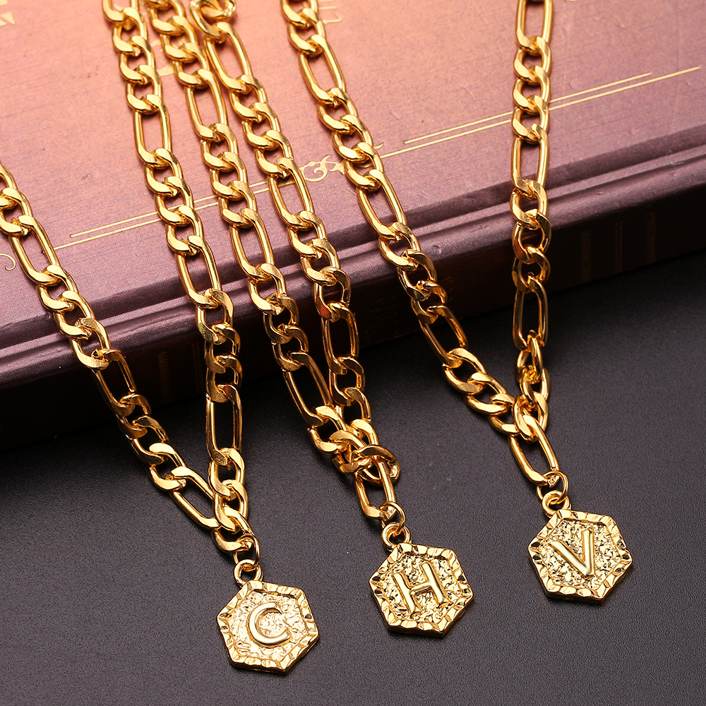 A Z 26 Capital Letters Bracelets Ankles Gold Color Chain Initial Letter Gifts for Women Fashion