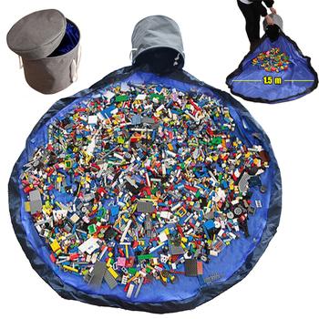 Wysuń zabawkę czyszczenie worek do przechowywania mata do zabawy Lego zabawki organizator składane miejsce do przechowywania pojemniki przenośna pamięć masowa kosze tanie i dobre opinie DuBii Z tworzywa sztucznego CN (pochodzenie) 150cm Unisex Edukacyjne Practical-storage not eat Cała 1 cm 6 lat