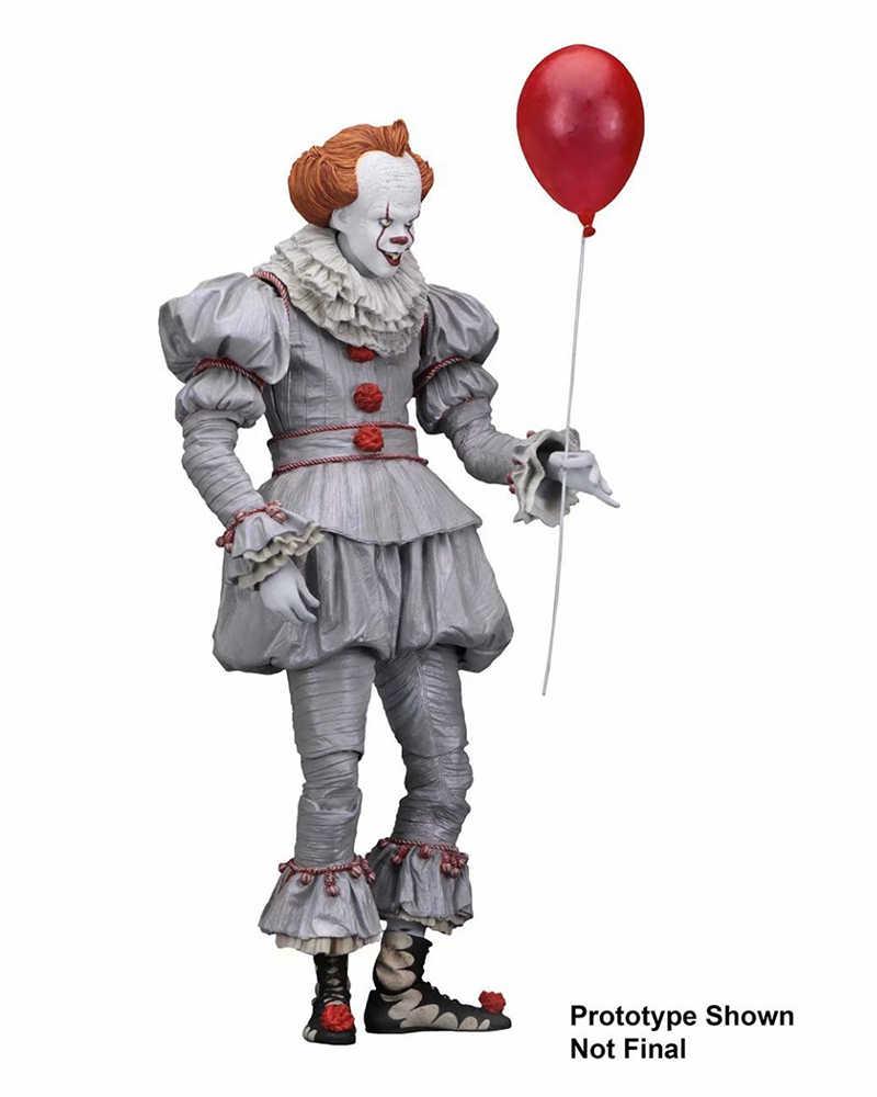 """Dalam Saham Mainan Anak-anak 18 Cm Joker Stephen King Itu Evil Joker Badut Pennywise Gambar 7"""" pria Mini Figure dengan Kotak"""