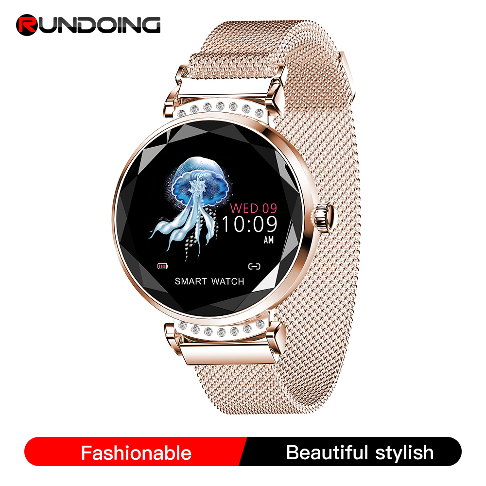 RUNDOING H2 Smart watch Waterproof Women ladies fashion Smartwatch Heart rate monitor Fitness Tracker For android and IOS|Smart Watches|   - AliExpress