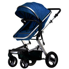 Luxury folding baby stroller 3 in 1 baby carriage car baby prams for children hot mom travel pushchair baby stroller 2 in 1(China)